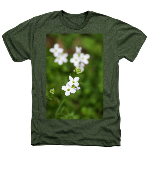 White Cuckoo Flowers Heathers T-Shirt