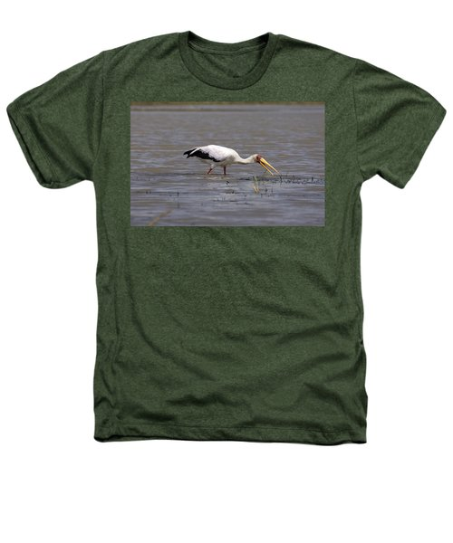 Yellow Billed Stork Wading In The Shallows Heathers T-Shirt by Aidan Moran
