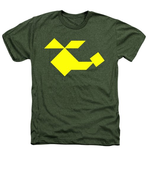 Yellow Helicopter Tangram Heathers T-Shirt
