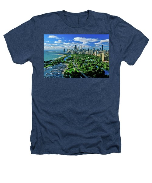 Aerial View Of Chicago, Illinois Heathers T-Shirt
