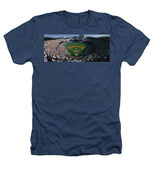 High Angle View Of A Baseball Stadium Heathers T-Shirt by Panoramic Images