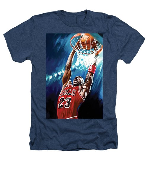 Michael Jordan Artwork Heathers T-Shirt