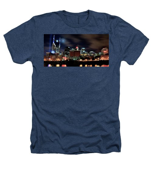 Nashville Panoramic View Heathers T-Shirt by Frozen in Time Fine Art Photography