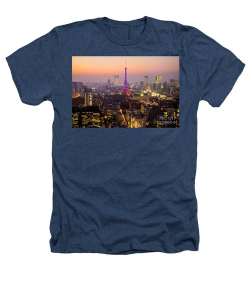 Tokyo Tower - Tokyo - Japan Heathers T-Shirt by Luciano Mortula