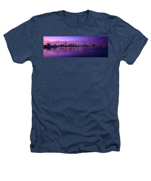Buildings At The Waterfront Lit Heathers T-Shirt by Panoramic Images