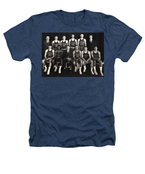 1959 University Of Michigan Basketball Team Photo Heathers T-Shirt by Mountain Dreams