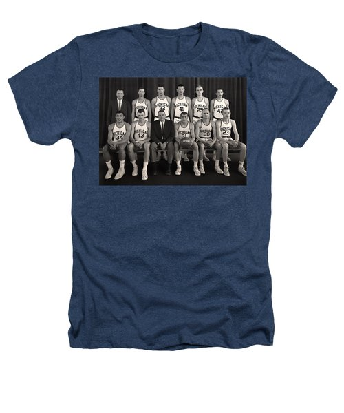 1960 University Of Michigan Basketball Team Photo Heathers T-Shirt by Mountain Dreams