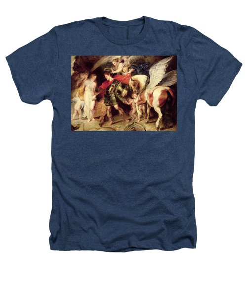 Perseus Liberating Andromeda Heathers T-Shirt by Peter Paul Rubens
