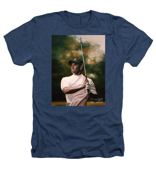 Tiger Woods  Heathers T-Shirt by Paul Meijering