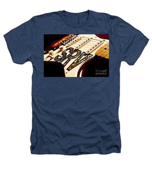 Replica Stevie Ray Vaughn Electric Guitar Artistic Heathers T-Shirt by Jani Bryson