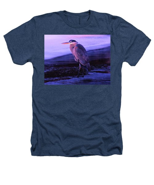 A Heron On The Moyie River Heathers T-Shirt by Jeff Swan