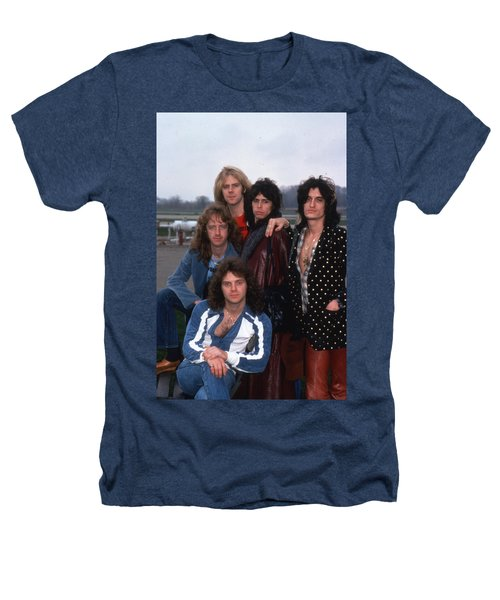 Aerosmith - Terre Haute 1977 Heathers T-Shirt by Epic Rights