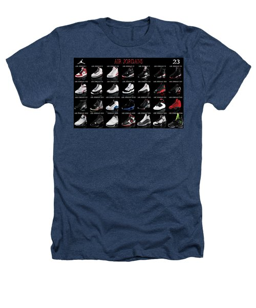 Air Jordan Shoe Gallery Heathers T-Shirt by Brian Reaves