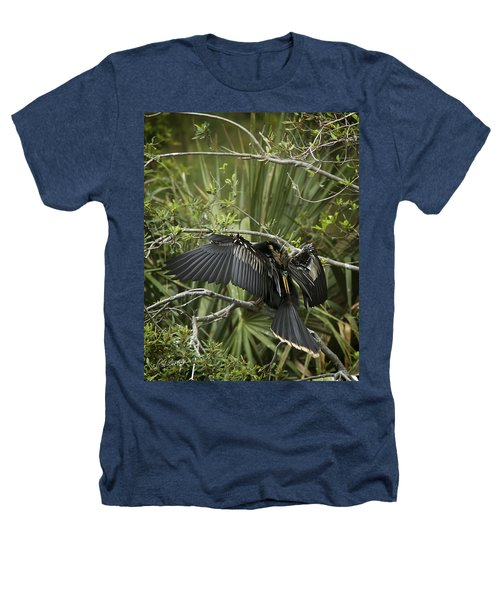 Anhinga Papa Heathers T-Shirt by Phill Doherty