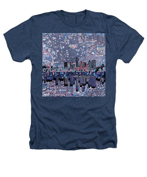 Austin Texas Skyline 3 Heathers T-Shirt by Bekim Art