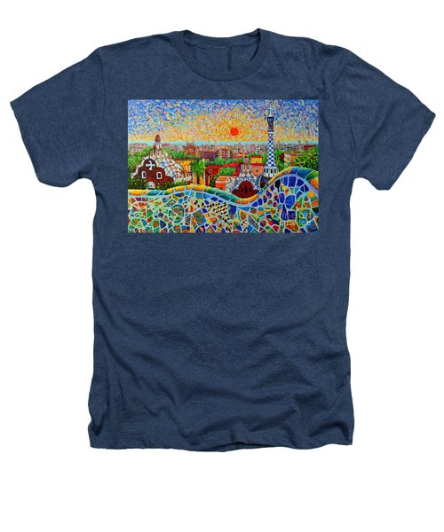 Barcelona View At Sunrise - Park Guell  Of Gaudi Heathers T-Shirt