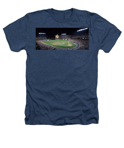 Baseball Game Camden Yards Baltimore Md Heathers T-Shirt by Panoramic Images