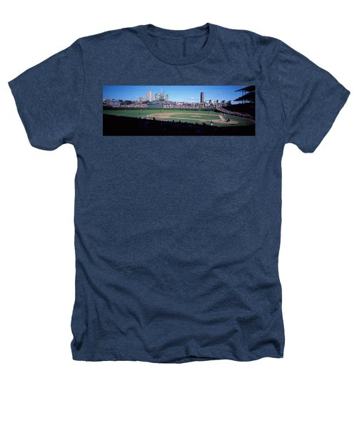Baseball Match In Progress, Wrigley Heathers T-Shirt by Panoramic Images