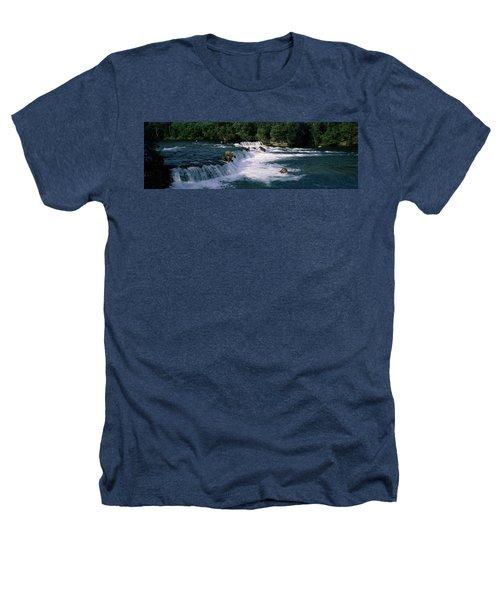 Bears Fish Brooks Fall Katmai Ak Heathers T-Shirt