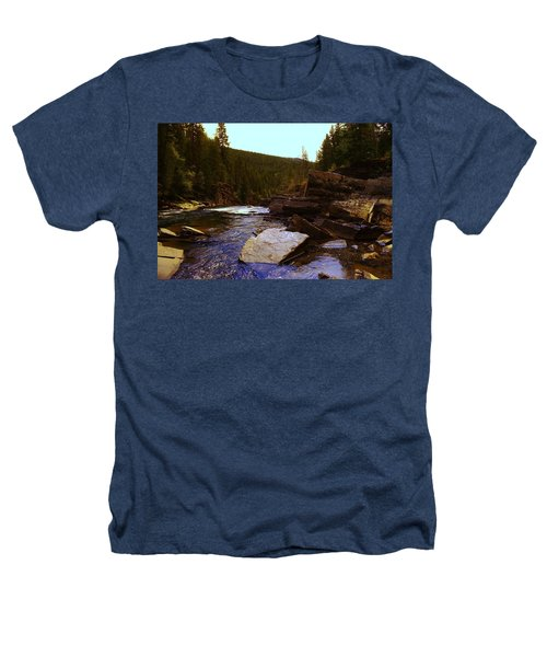 Beautiful Yak River Montana Heathers T-Shirt by Jeff Swan