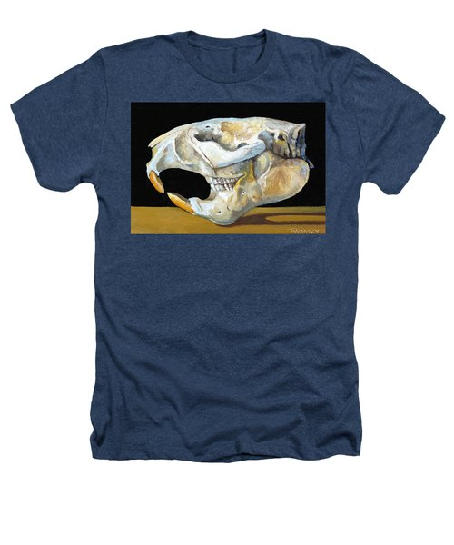 Beaver Skull 1 Heathers T-Shirt by Catherine Twomey