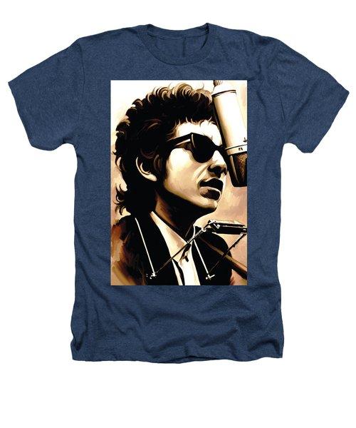 Bob Dylan Artwork 3 Heathers T-Shirt by Sheraz A
