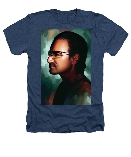 Bono U2 Artwork 1 Heathers T-Shirt by Sheraz A