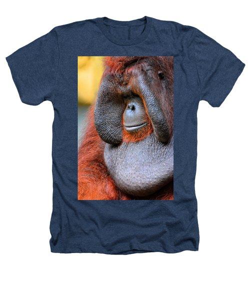 Bornean Orangutan Vi Heathers T-Shirt by Lourry Legarde