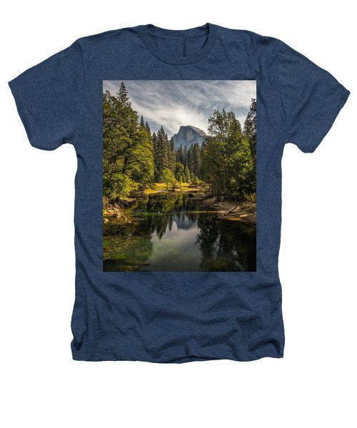Bridge View Half Dome Heathers T-Shirt by Peter Tellone