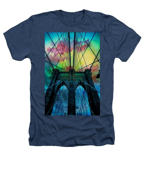 Psychedelic Skies Heathers T-Shirt by Az Jackson