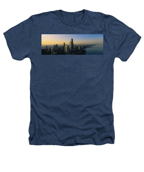 Buildings At The Waterfront, Chicago Heathers T-Shirt by Panoramic Images
