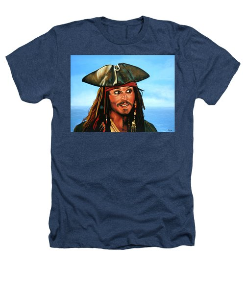 Captain Jack Sparrow Painting Heathers T-Shirt by Paul Meijering