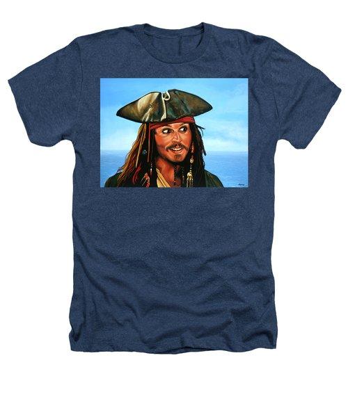 Captain Jack Sparrow Painting Heathers T-Shirt