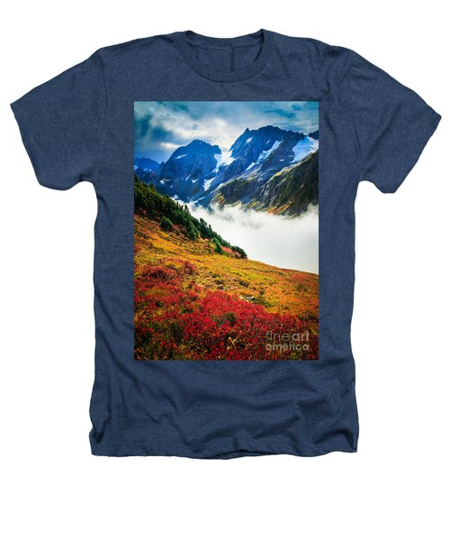 Cascade Pass Peaks Heathers T-Shirt by Inge Johnsson