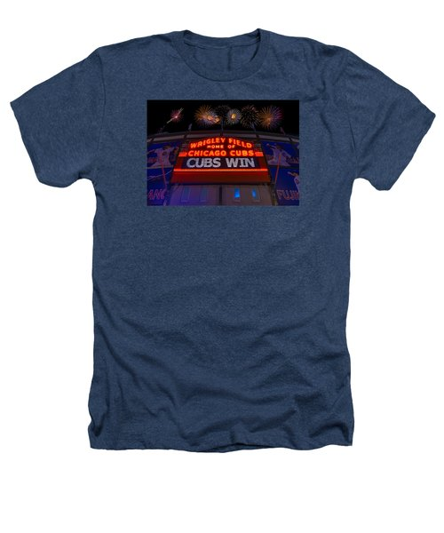 Chicago Cubs Win Fireworks Night Heathers T-Shirt