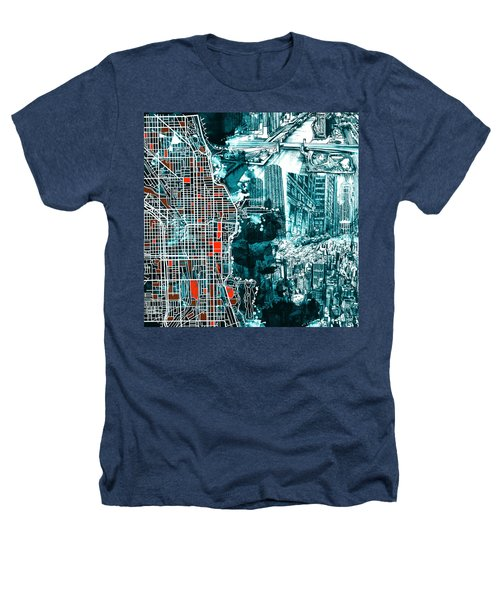 Chicago Map Drawing Collage Heathers T-Shirt