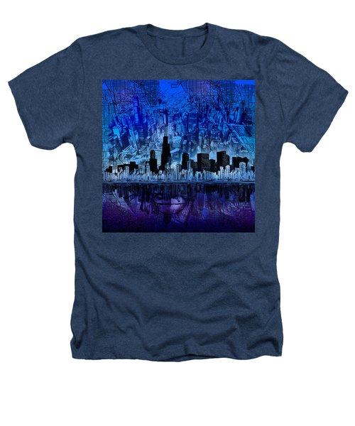 Chicago Skyline Blue Version Heathers T-Shirt
