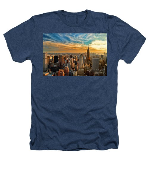 City Sunset New York City Usa Heathers T-Shirt