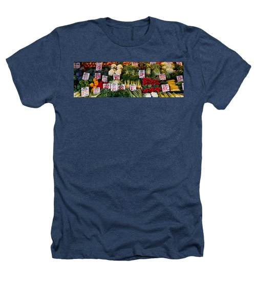 Close-up Of Pike Place Market, Seattle Heathers T-Shirt by Panoramic Images