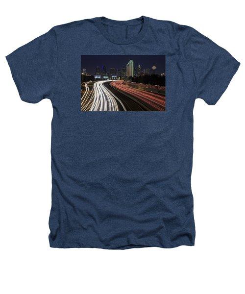 Dallas Night Heathers T-Shirt by Rick Berk