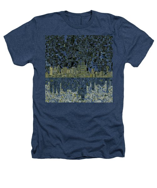 Dallas Skyline Abstract 2 Heathers T-Shirt