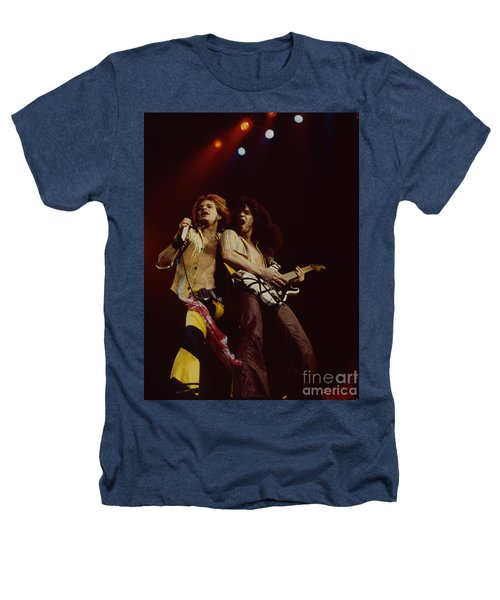 David Lee Roth And Eddie Van Halen - Van Halen- Oakland Coliseum 12-2-78   Heathers T-Shirt by Daniel Larsen