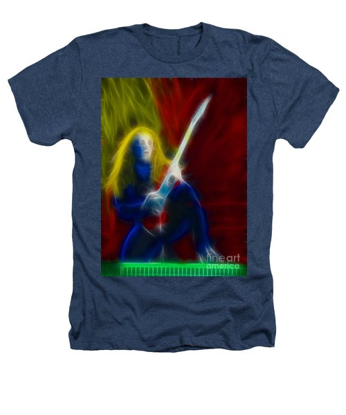 Def Leppard-adrenalize-ga5-vivian-fractal Heathers T-Shirt by Gary Gingrich Galleries
