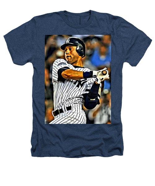 Derek Jeter In Action Heathers T-Shirt