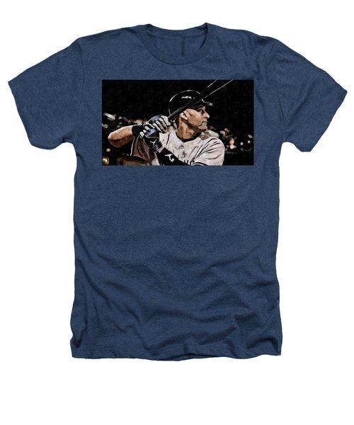 Derek Jeter On Canvas Heathers T-Shirt