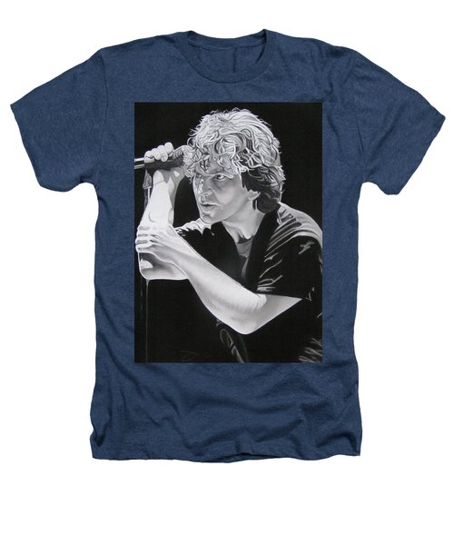 Eddie Vedder Black And White Heathers T-Shirt by Joshua Morton