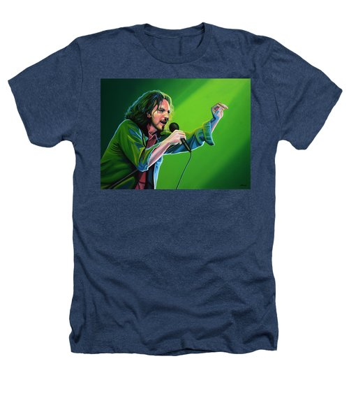 Eddie Vedder Of Pearl Jam Heathers T-Shirt by Paul Meijering