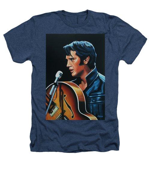 Elvis Presley 3 Painting Heathers T-Shirt by Paul Meijering