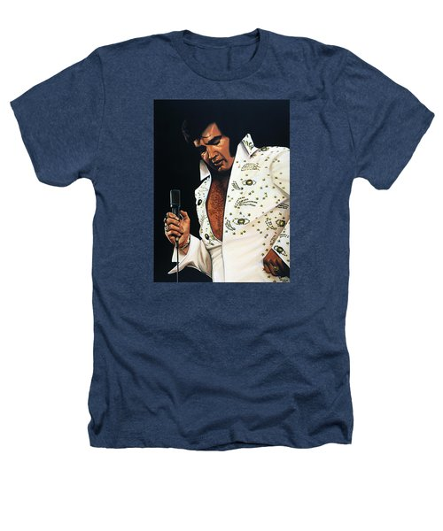 Elvis Presley Painting Heathers T-Shirt by Paul Meijering