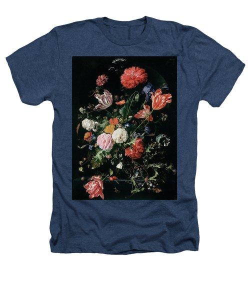 Flowers In A Glass Vase, Circa 1660 Heathers T-Shirt by Jan Davidsz de Heem